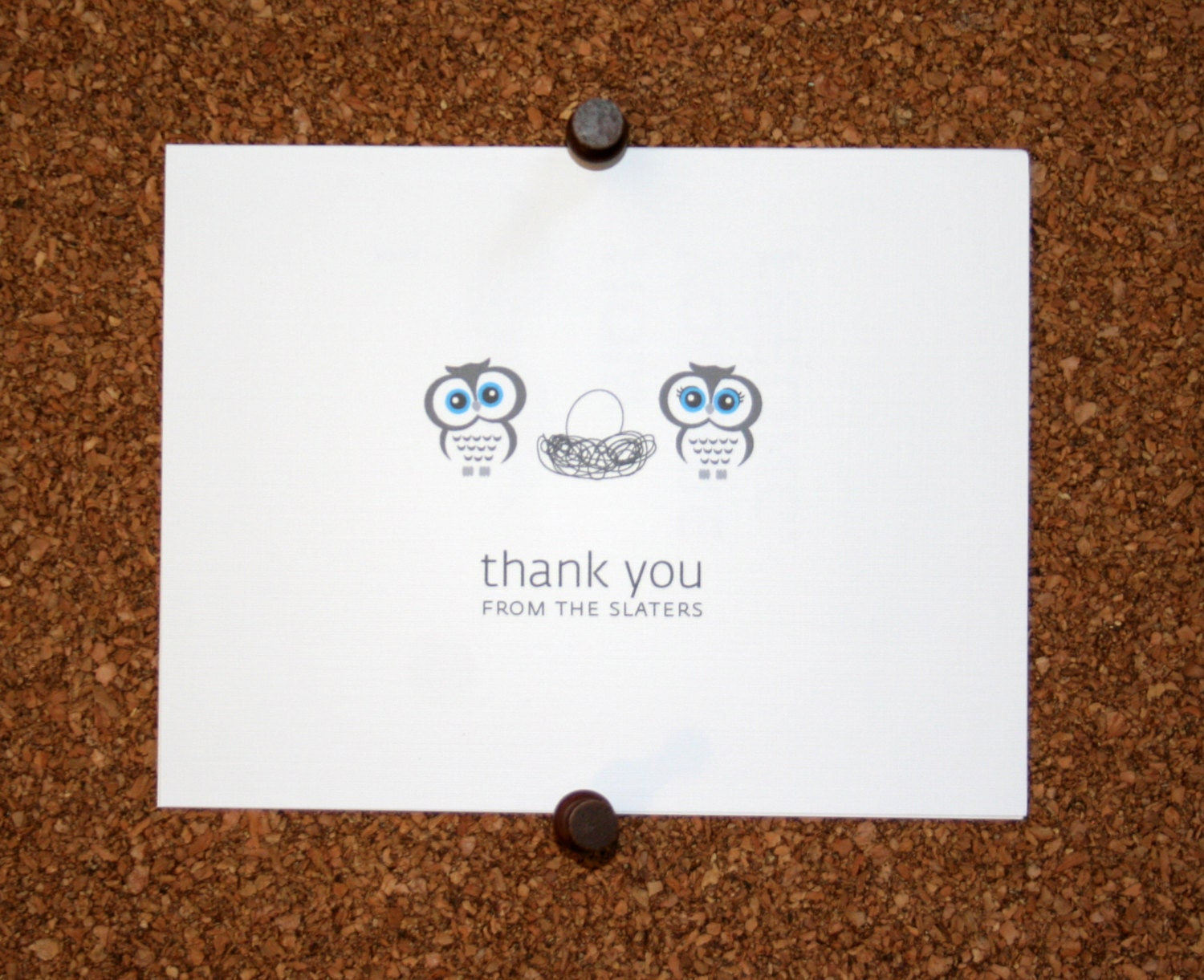 owl baby thank you cards baby shower thank you cards baby