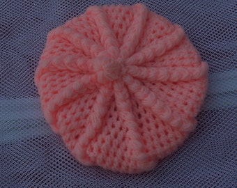 HAND CROCHETED Baby Girl's Tam. (Ready to Ship)
