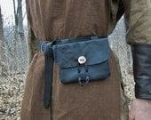 1 Medieval Leather Pouch Bag - Choose Your Color - Renaissance SCA, Handmade
