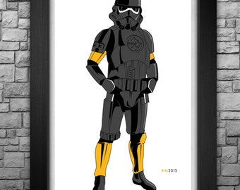 """STORM TROOPER """"Pittsburgh Steelers"""" inspired limited edition art print. Available in 3 sizes!"""