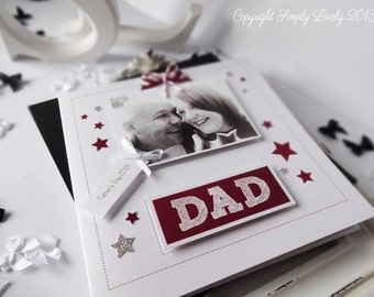 Handmade Card For Dad including Your Photo...