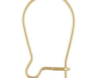 14k Gold Filled 16mm Kidney Ear Wires