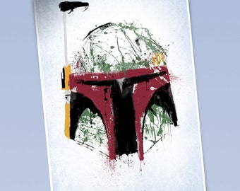 Star Wars Boba Fett art print