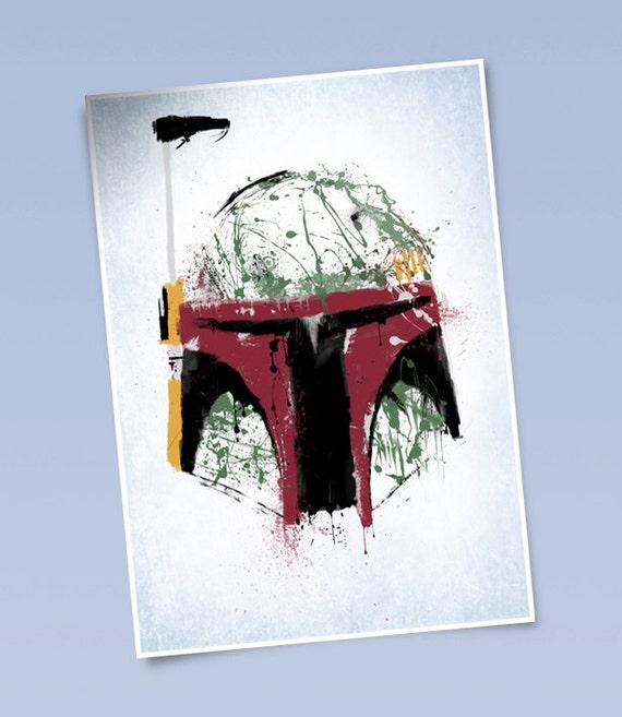 Star Wars Boba Fett art print