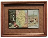 Arbuckles Illinois Trade Card, 1889 Framed Ready to Hang