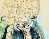 RESERVED FOR KRIS Pride and Prejudice Upcycle Vintage Doily and Lace Dreamcatcher