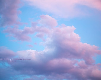 clouds,sweet dreams,soft colours,nursery wall art,cloud wall art,cloud dreaming,baby room art,peaceful,pastel colours,sky art