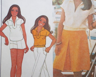 Boating in the harbor - top, shorts, pants and culottes pattern Marlo's Corner McCalls 5526
