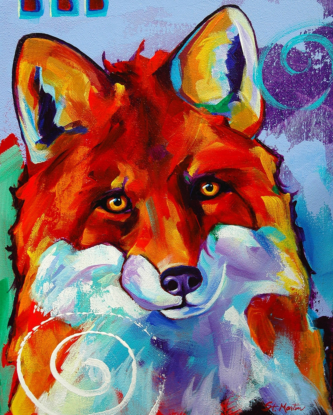 Red Fox Original Fox Giclee Print By Corina By