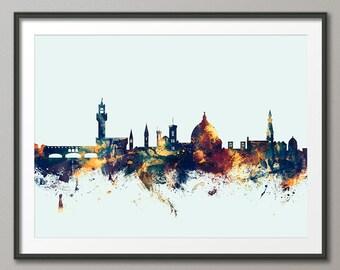 Florence Skyline, Florence Italy Cityscape Art Print (1847)