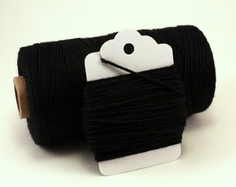 Solid Black Baker's Twine . Black Divine Twine . Choose Any Number of Yards