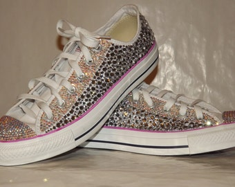 Rhinestone Bling Totally Covered Converse Chuck Taylor All Stars Low Tops
