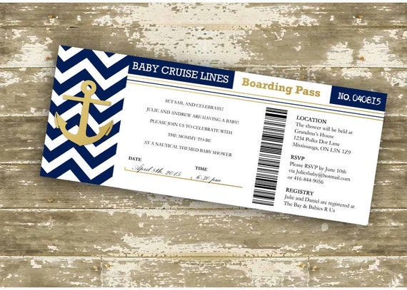 Baby Shower Invitation Print Your Own DIY Gold Foil Baby - How much is a cruise ship ticket