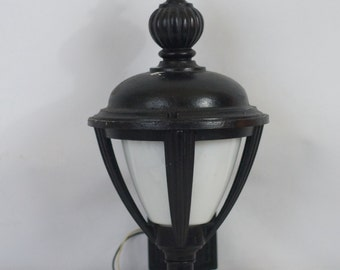 Hinkley Lighting Outdoor Wall Sconce Light Black With White Globe