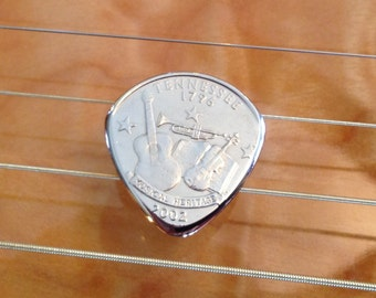 Coin Guitar Pick - You Pick The State - Highly Polished