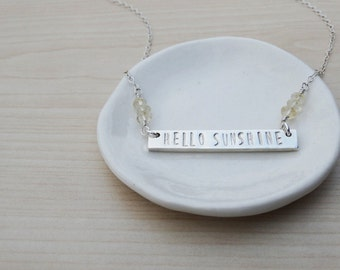 Silver Necklace 'Hello Sunshine' - Sterling Silver