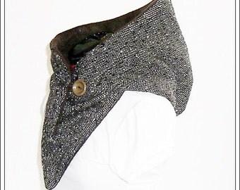 Hooded Scarf - Wool brown-mottled