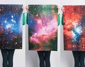 Large Galaxy Print Gift Wrap / 3 Sheets