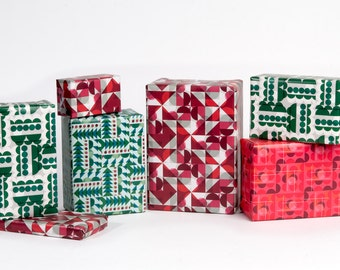 Mid-Century Motif Gift Wrap - 12 Sheets