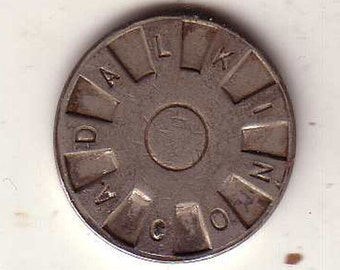 A Dalkin Co, Vanak Corp Token Exonumia Patented Albert Dalkin Inventor