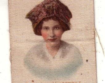 Base Ball Actress Series on Satin Turkey Red Cigarettes Gertrude Vanderbilt