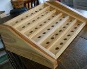 Essential Oil Display Rack, Woodworking Display Rack, Solid Hickory, Display Rack, Oil Display, Dan Leasure