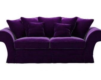 Dark Aubergine Purple Sofa