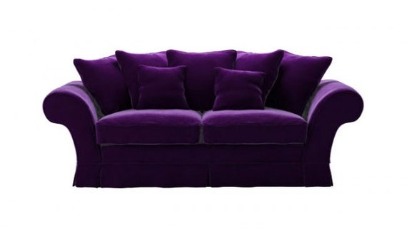 Dark Aubergine Purple Sofa By BobbyTrendy On Etsy