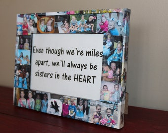 """Custom Collage Picture Frame, A Unique Gift for Any Occasion, Home Decor or Perfect Gift, Personalized Frame 5"""" x 7"""""""