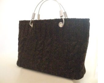 Tweed Knit Purse Free Domestic Shipping