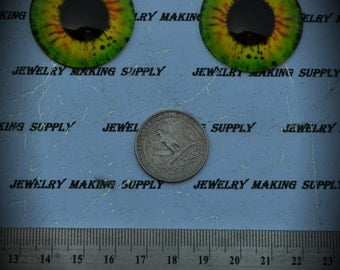 Large 35mm Iris Cat Eye Glass Cabochon Y310