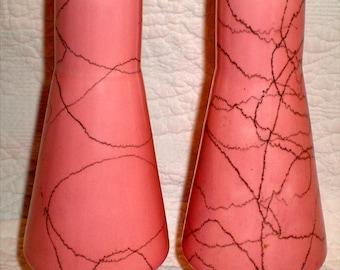 Mid Century Modern Pink Ceramic Shakers
