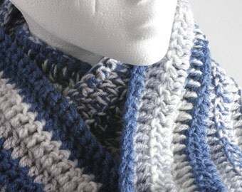 Chunky wool/acrylic blend infinity scarf