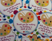 Reserved - (6) Painting Party Favor Tags