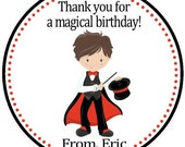 Magic/Magician Party Favor Tags - Boys