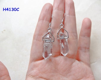 Double Terminated Herkimer Diamond Point Earrings set in Sterling Silver Many Choices available H4130