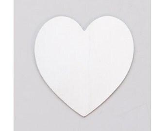 "Nickel Silver Large Heart 1-3/8"" x 1-1/2"" 24ga PKG of 6"