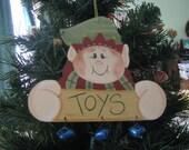 elf,  ornament,  decoration, Christmas, jingle bells, handpainted