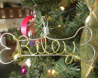 Goofy Bone Dog Ornament, Personalize Pet Ornament, Don't forget your fur baby, Name Ornament