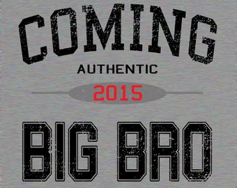 Big Brother Shirt Big Bro Coming Soon New Sibling Promoted to Promotion Pregnancy Announcement Birth Baby Boy Infant Girl Grey White