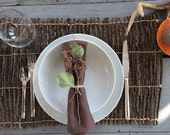 Twig / Branch Placemat - Rustic Woodland kitchen / dining placesetting tablscape / 20x13 inches each / 10 available