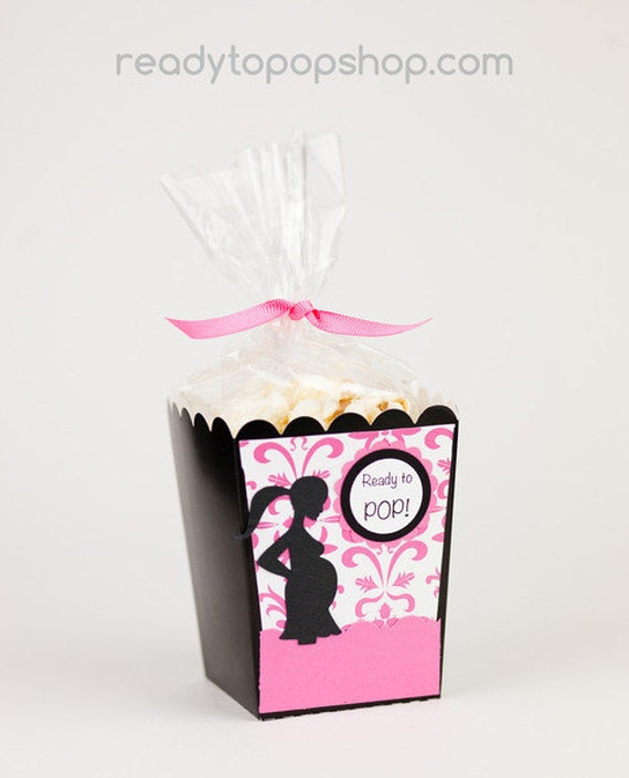 Ready To Pop Baby Shower Popcorn Favor Box The By