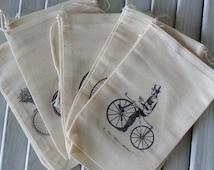 Steampunk Bicycle Steampunk Gift Bag Steampunk Wedding Muslin Bags Sachet Bags Steampunk Style Small Gift Bag Fabric Gift Bag Bulk Gift Bag