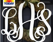"Large (18"") Wooden Monogram-Ready to Paint-Monogram your Home"
