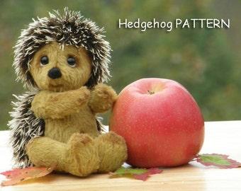 "PDF Pattern Only! DIY! Hedgehog Teddy Bear ""Zhanna"" Pattern."