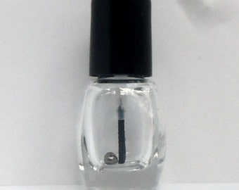5 Empty MINI Glass Nail Polish Bottles(square) with mixing beads, Glass Bottles, Nails, Lacquer, Empty Bottles, Polish Bottles, Mini