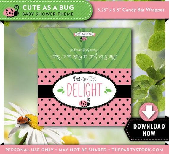 baby shower candy bar wrapper label girl printable baby shower