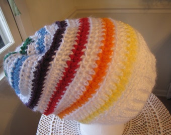Slouch Hat, Rainbow Hat, Teen, Adult, READY TO SHIP