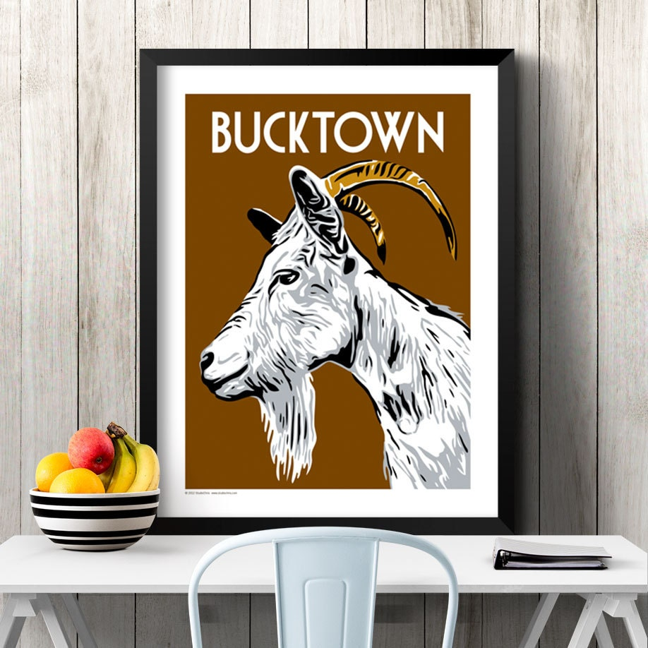 Bucktown Chicago Neighborhood Poster