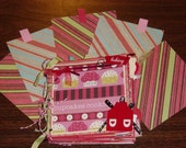 5x5 Baking Paper Bag Scrapbook Album lots of pages